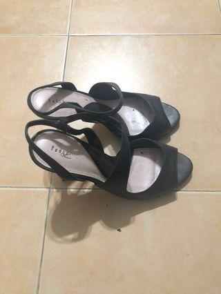 PEDRO Women's Heels (Black, Size 37)