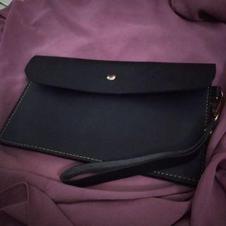 Simple black handbag