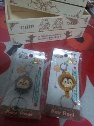 Disney Chip and Dale key Reel 鎖匙 卡連