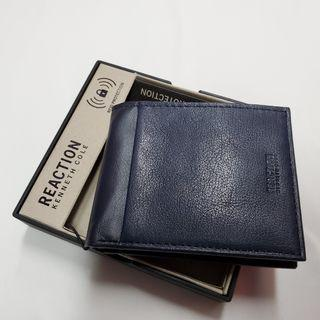 Kenneth Cole REACTION Passcase Wallet in Navy 防RFID 深藍色男士真皮銀包 附送禮盒 全新現貨正品