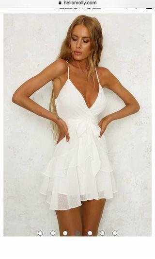 Hello molly white mini dress