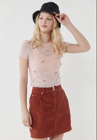 Urban Outfitters Babydoll Pink Top