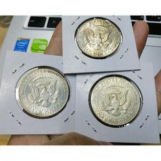 美國1964年甘迺迪半美元銀幣 高銀 費城版 UNC- 車輪光 單枚隨機出貨
