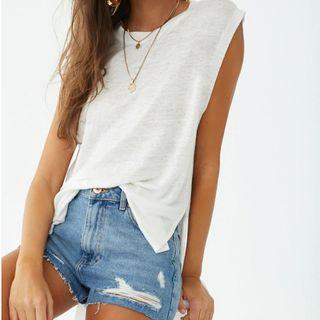 Forever21 Linen Muscle Tee