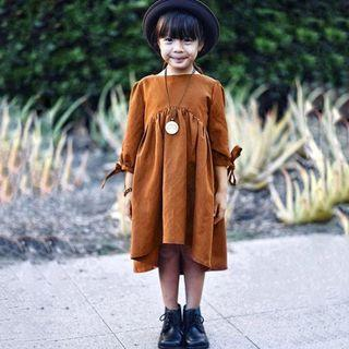Girl long-sleeves dress