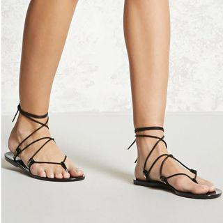 Jelly wrap sandals