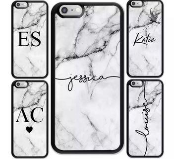 [PO] Customized Name Marble Phone Casing for iPhones!