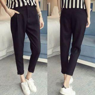 Up to 5XL: Black Formal Pants