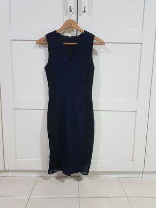 Tahari blue and black dress #est50