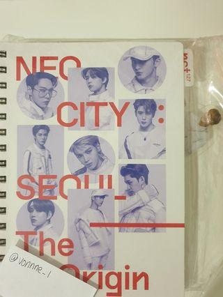 NCT127 NEO CITY SEOUL THE ORIGIN CONCERT GOOD-MARK INDEX BOOK AND BOOKMARK