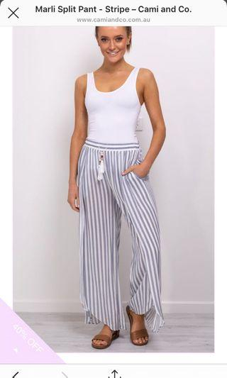 Blue and White Stripy Pants ( Brand New)
