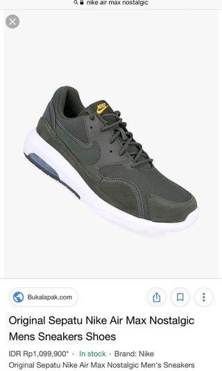 ORIGINAL sepatu nike air max nostalgic (unisex) FREE ONGKIR JABODETABEK