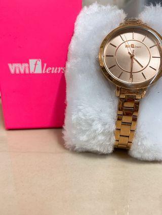 ViVi Fleurs 玫瑰金手錶