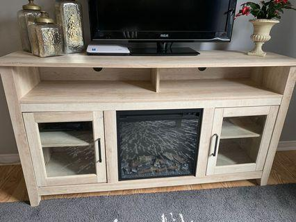 Tv stand console fireplace