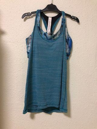 Lululemon sports bar with Tank top
