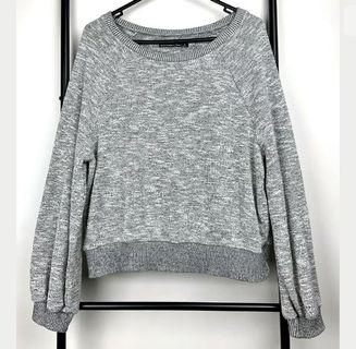 Abercrombie & Fitch S grey knit women oversized jumper top shirt sweater winter