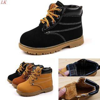 New Baby Kids Children Boys Girls Winter Casual Warm Ankle Snow Boots Fur Shoes
