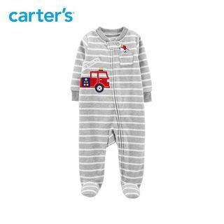 🚚 BN Carter's 3M Fleece Sleep & Play Firetruck Zip-Up Sleepsuit