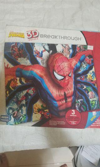 spiderman 3d puzzle絕版全新