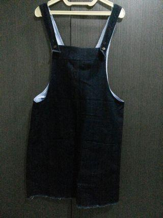 FIXED PRICE- Denim overall skirt