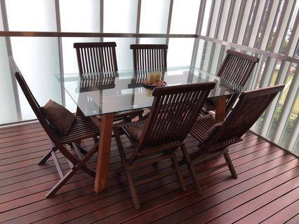 Balinese Teak Wood Dining set outdoor/Indoor