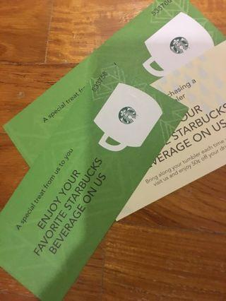 Starbucks vouchers