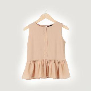 Shopatvelvet sleeveless blouse / peplum top