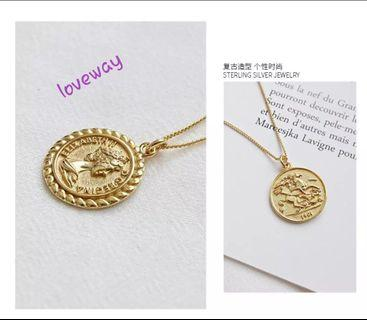 S925 sterling silver gold. never fade, never rust