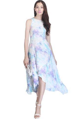 Fayth Wanderlust Watercolour Maxi Dress