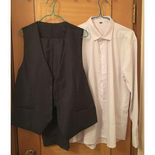 馬甲, 恤衫, 西褲
