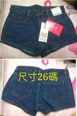 全新牛仔短褲XS