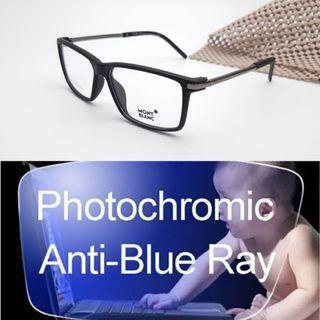 Free lensa photocromic blueray frame kacamata mont blanc 8503