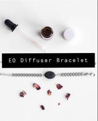 Silver Essential Oil Diffuser Bracelet