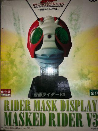 已開盒 殘盒 景品 未砌 1/2 幪面超人 V3 頭 rider mask display masked rider