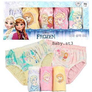韓國進口女童純棉底褲內褲🌟$99/1盒5條 $178/2盒