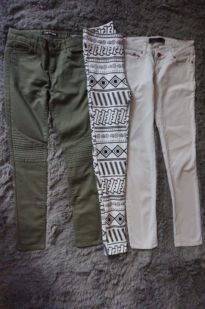 3 pairs skinny pants for $15
