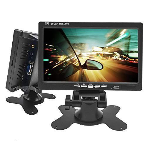 7 inch Monitor HDMI-VGA-AV-RCA-BNC-SPEAKER-REMOTE-BRACKET STAND for Car  Rearview Camera, Raspberry Pi, CCTV Tester, CCTV Camera, DVR Recorder  Display