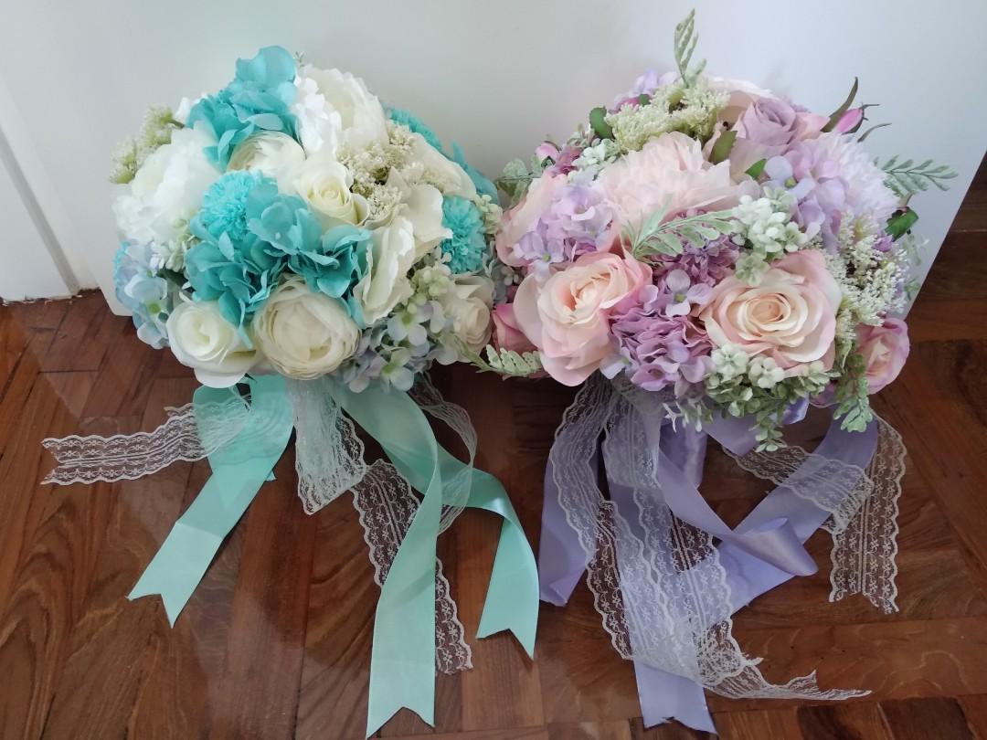 婚後物資--結婚婚紗攝影絲花花球
