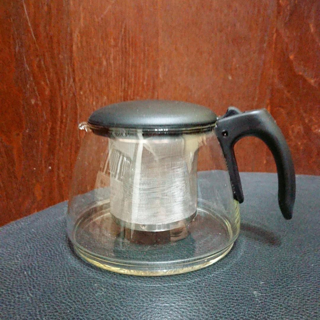 全新玻璃茶壺連茶隔(無紙盒)
