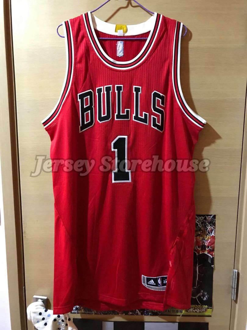 another chance 21813 a1a79 Adidas NBA Derrick Rose Chicago Bulls Road Authentic Jersey 落場版 球衣
