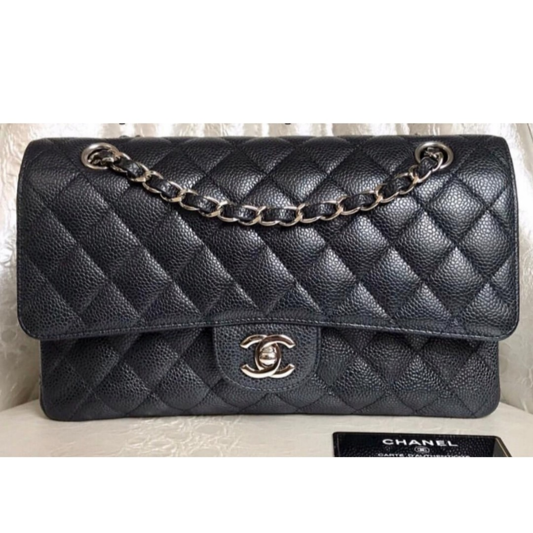 cfdaf4976743 Authentic Chanel Classic Medium Black Caviar Shw Bag, Luxury, Bags ...