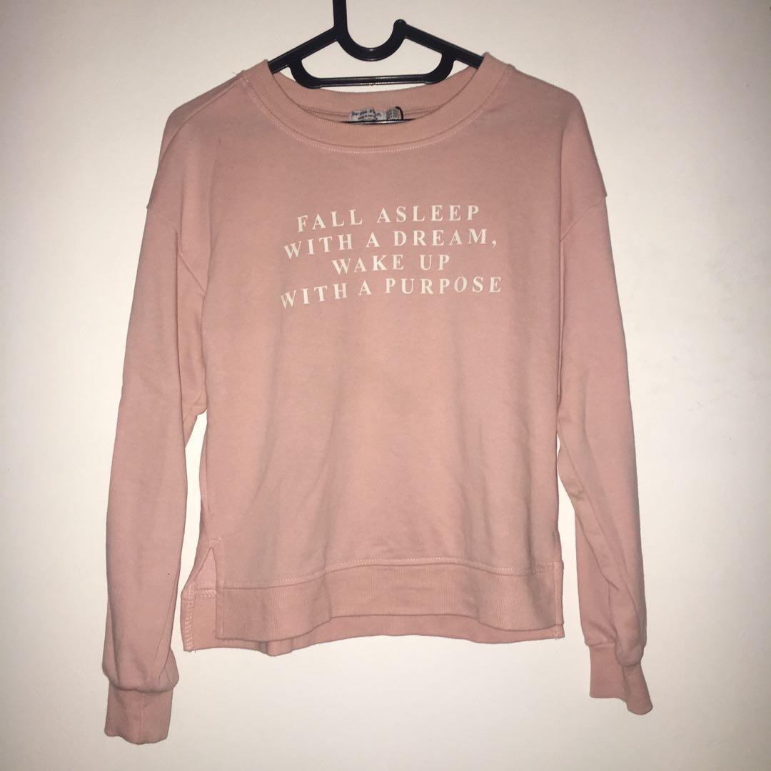 BERSHKA pink sweater