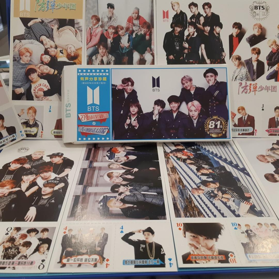 BTS Postcards + Mini Poker Cards! **New**