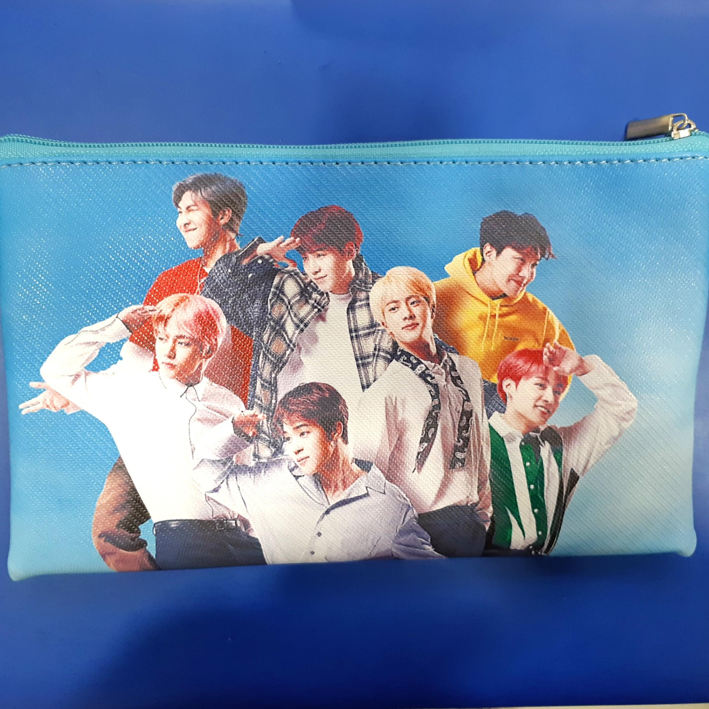 BTS's Wristlet Cum Pouch **New & Nicely Double Printed**