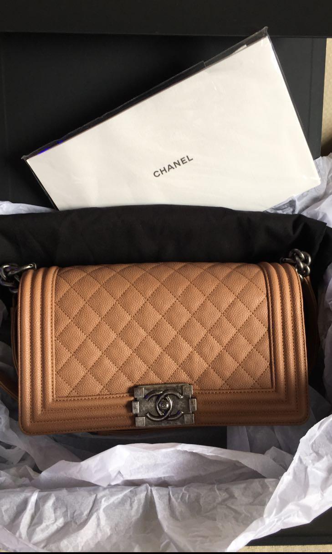 e0394d495324 Chanel boy medium caviar flap bag, Luxury, Bags & Wallets, Handbags ...