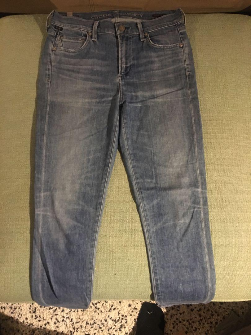 Citizens of humanity size 26 jeans rocket crop skinny ankle
