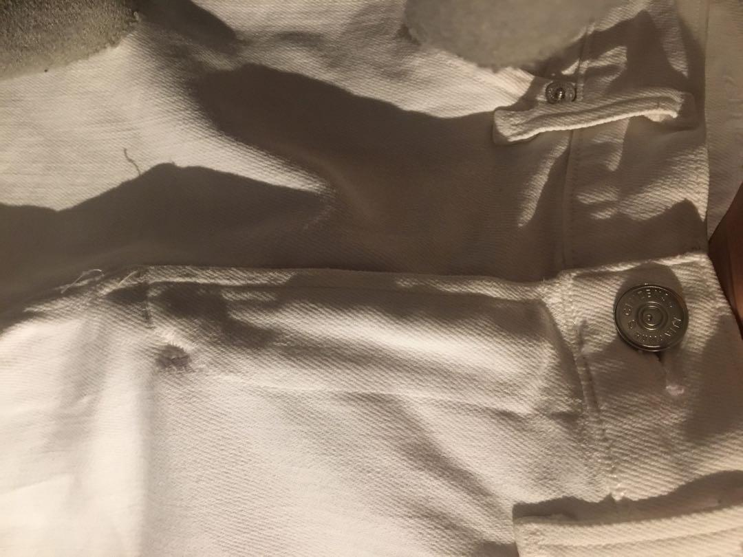 CITIZENS OF HUMANITY white jeans size 26 rocket crop skinny