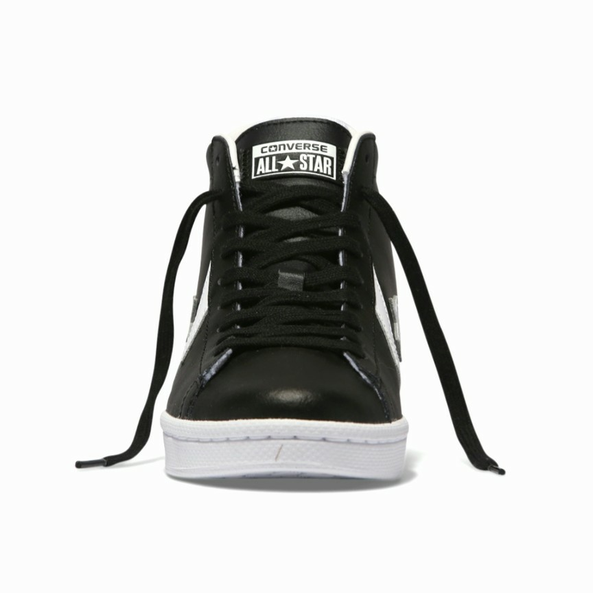 new product 41946 129da Converse Pro Leather 76 Mid Height Men's Sneaker Shoe- Black