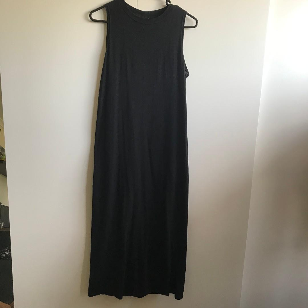 Cotton on Black Midi Sleeveless Dress (Size XS/fits up to a 8)