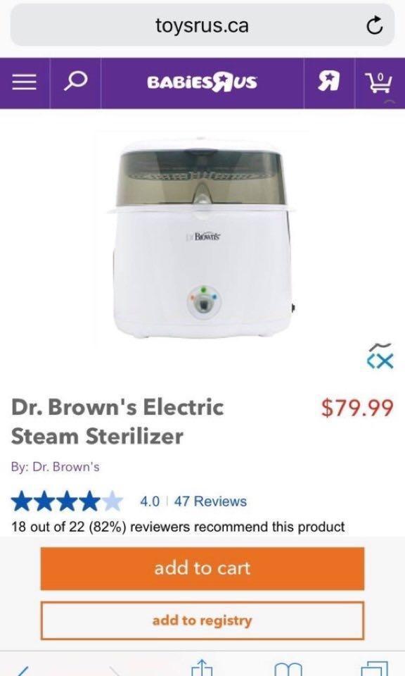Dr browns sterilizer